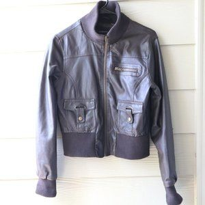 Ambiance Apparel Brown Faux Leather Jacket
